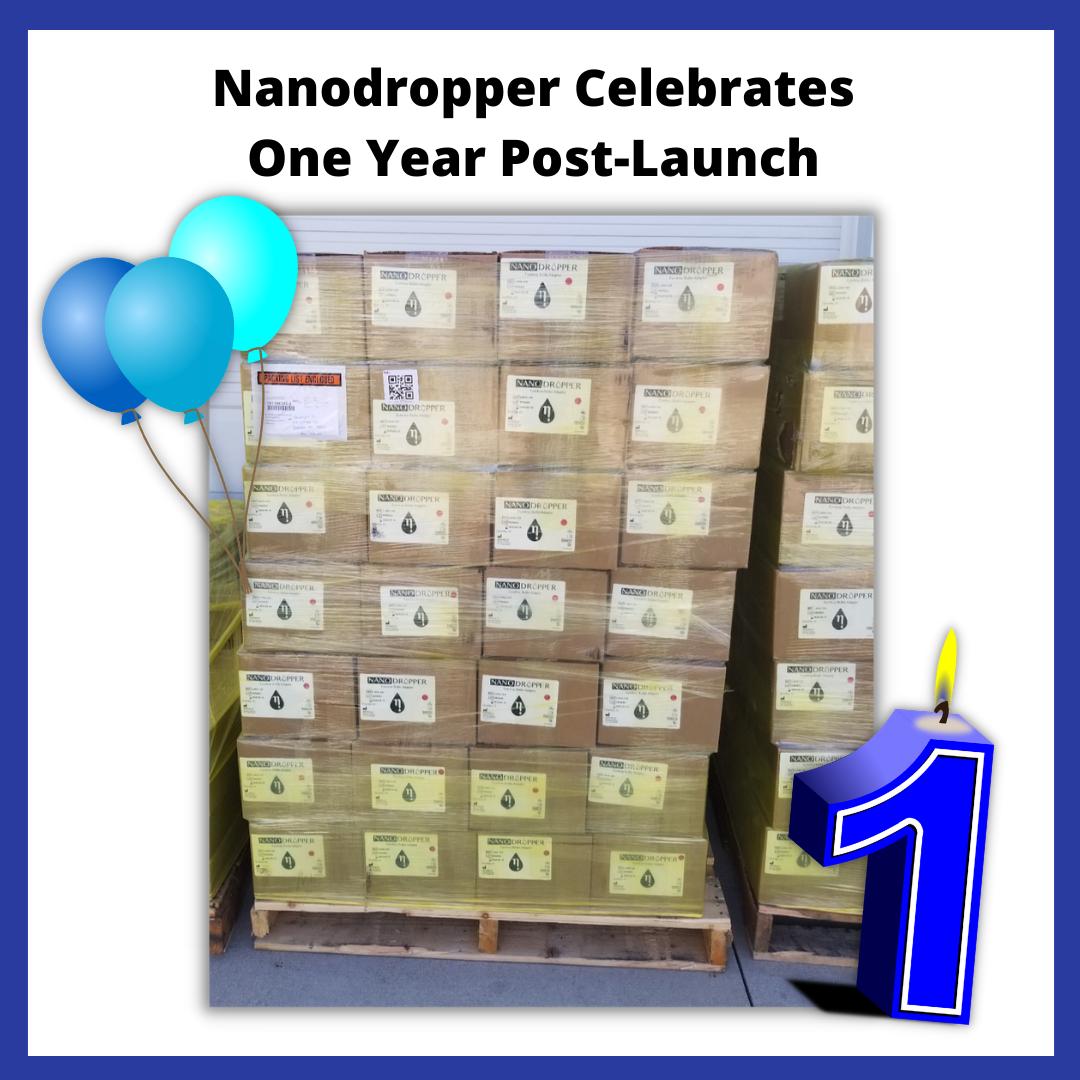 a box of nanodropper adaptors in a driveway