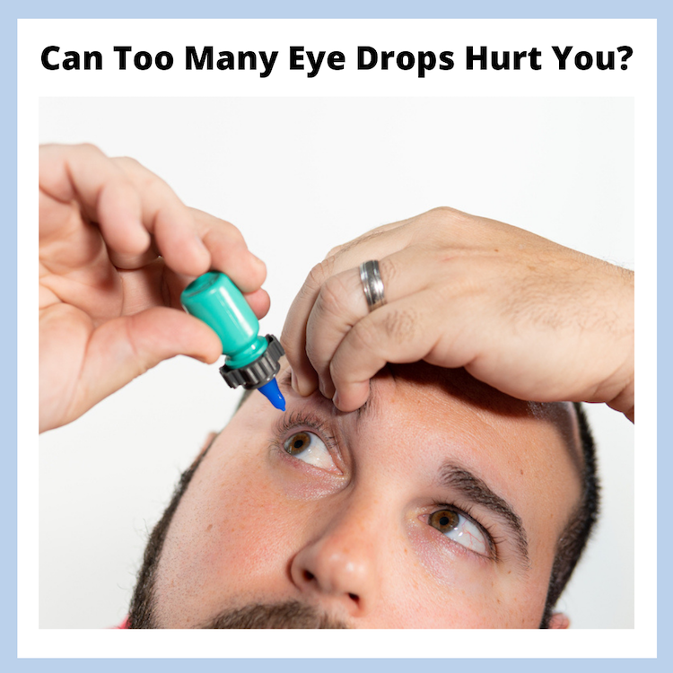an eyedrop user trying to take their eyedrops, with the headline of this blog over top